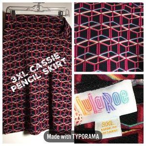 LulaRoe 3XL Cassie skirt fits 24-26